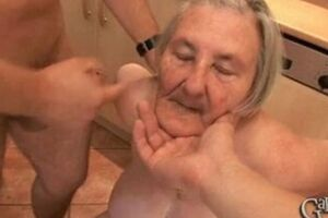 76 years old toothless old mom is also naughty for gang sex